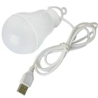 JIAWEN USB 5W LED Lamp Bulb White Light 6500K 400lm 10-SMD - White