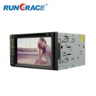 Rungrace 6.2-inch 2 Din TFT Screen In-Dash Car DVD Player with Bluetooth, RDS, ATV