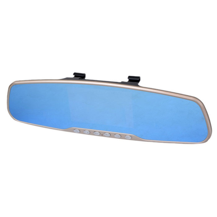 "Marsing 4.3"" HD 1080P Car Vehicle DVR Rearview Mirror 8GB TF - Black"