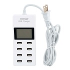 "RUITAI 5V 9.2A 1.97"" LCD 8-Port USB Power Charger Strip for Phone / Tablet - White (US Plug)"
