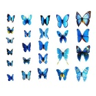 PVC 3D Simulation Butterfly Wall Stickers Art Decals - Blue (12 PCS)