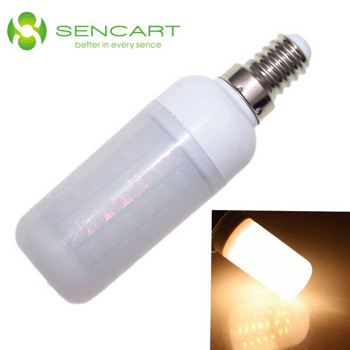 SENCART E14 10W LED Corn Bulb Warm White Light 800lm 48-SMD (100~240V)