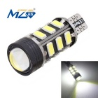 MZ T15 9W 15-SMD 5630 + 1.5W 675lm Decode LED Car Backup Lamp White Light 6500K (12~18V)