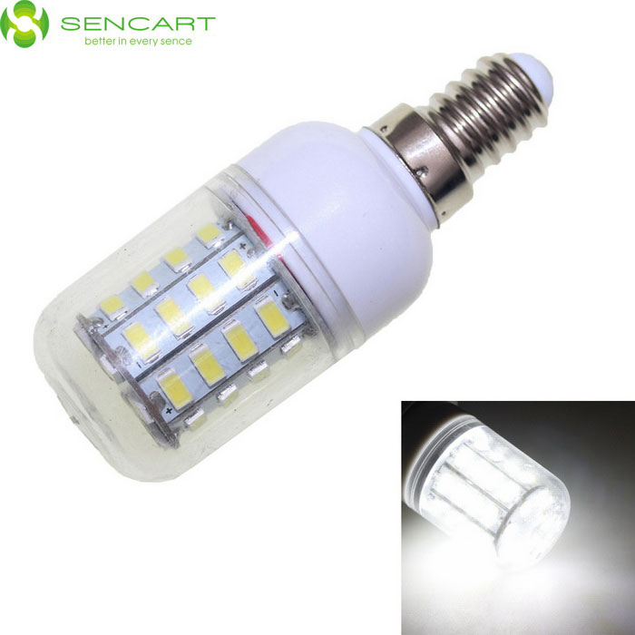 SENCART E14 8W 40-LED Cold White 720lm Corn Light - White (100~240V)