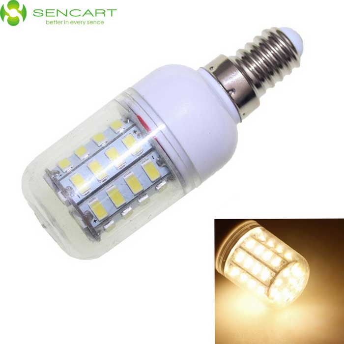 SENCART E14 8W 40-LED Warm White 720lm Corn Light - White (100~240V)