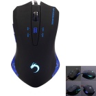 6-Key 2400dpi 7-Color Dazzle Light Ergonomic Frosted Texture Wired Gaming Mouse - Black