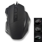 7-Key USB 2.0 Wired 3200dpi 7-Color Gaming Mouse for Cf / Lol - Black