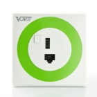 Vonets Wi-Fi Room 300Mbps Wall-mounted Wi-Fi Router / Bridge Reapter w/ USB Charger Port - White