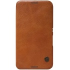 NILLKIN QIN Series Protective PU Leather + PC Case for Sony Xperia E4 - Brown