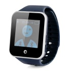 "1.5"" Sapphire Crystal Touch Screen Silicone Band Bluetooth V3.0 Smart Wrist Watch w/ Pedometer- Blue"