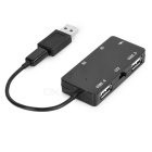 Micro USB OTG 2-USB Charger Hub + TF Card Reader for Tablet - Black