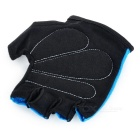 INBIKE Outdoor Cycling Half-Finger Gloves - Blue + Black (L / Pair)