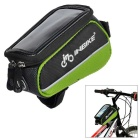 "INBIKE IB289 Outdoor Cycling Bike Top Tube Double Bag for 4.8"" Cell Phone - Blackish Green"
