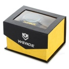 WEIDE WH-2310 Men's Stainless Steel LED Quartz Wrist Watch - Black