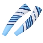 XINTOWN FSXT14XW Sports Cycling Bicycle Sun Block UV Protection Arm Oversleeves - White + Blue (XXL)