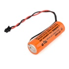 AITELY 3.6V ER14250-Q batterie lithium avec connecteur pour ER6V / ER6C / LS14500 / TL-590 - orange