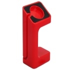 Specially Designed PVC Charging Stand for APPLE WATCH - Red + Black