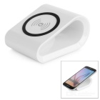 Single Coil Qi Wireless-Ladegerät für Nokia / Samsung + More - White + Black