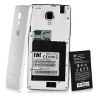 """THL T12 Android 4.4 MT6592M 1.4GHz Octa-core 3G WCDMA bar Phone w/ 4.5""""IPS HD, 8GB ROM, 8.0MP- White"""
