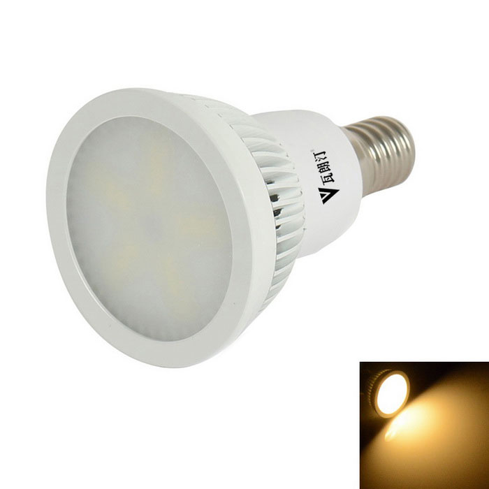 WaLangTing E14 6W 0~270lm Dimmable Spotlight Bulb Warm White Light 3200K 15-SMD LED (220-240V)