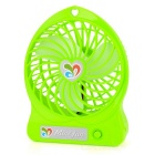 3-Blade 1-Mode USB Mini Fan - Green