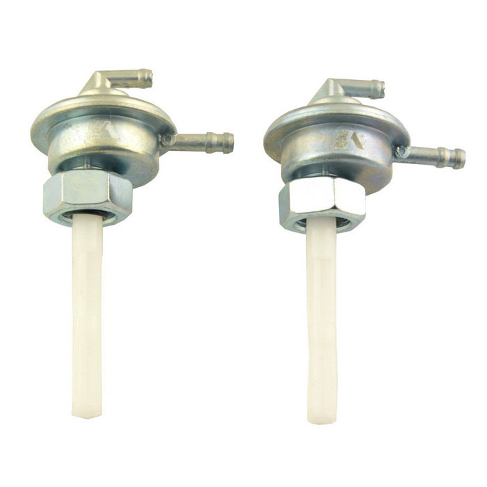 GY6-125 Motorcycle Fuel Oil Tank Switches - Silver (2PCS)