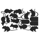 Funny Creative Rat Hole Cartoon Bedroom Living Room Wall Stickers - Black