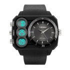SKMEI 50m Waterproof Dual-Movement Digital + Analog Men's Shockproof Watch - Black