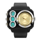 SKMEI 50m Waterproof Dual-Movement Digital + Analog Men's Shockproof Watch - Black + Gold