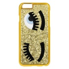 "Fashion 3D Sequins Decorated Wink Eyes Pattern Protective Back Case for IPHONE 6 4.7"" - Golden"