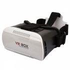 VR BOX Virtual Reality 3D Glasses for Phones - White + Black