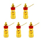 Jtron Spring Positive Locking Female Connector Press Type Terminals - Silver + Red(5PCS)