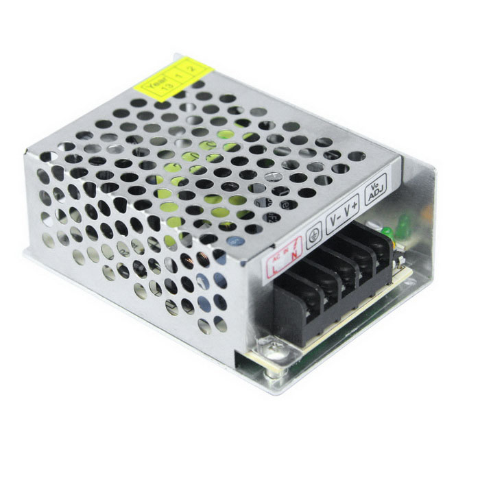 DC 5V 5A 25W Output High Efficiency Switching Power Supply - SilverSwitching Power Supply<br>Power25WModelZL-25W-5Form  ColorSilver Grey + Black + Multi-ColoredMaterialMetal AluminumQuantity1 DX.PCM.Model.AttributeModel.UnitRated Current5 DX.PCM.Model.AttributeModel.UnitRate Voltage5VWorking Temperature-40~+65 DX.PCM.Model.AttributeModel.UnitWorking Humidity20% - 90% RH non condensingCertificationCEOther Features1. Input voltage range(V):85~265V<br>2. Frequency:(Hz)47~63Hz<br>3. Voltage Regulation:±10%Packing List1 x Switching Power Supply<br>