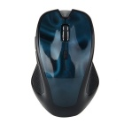 FN-861 Bluetooth 3.0 Wireless Mouse 3D Texture 1600dpi Ergonomic Mouse - Blue