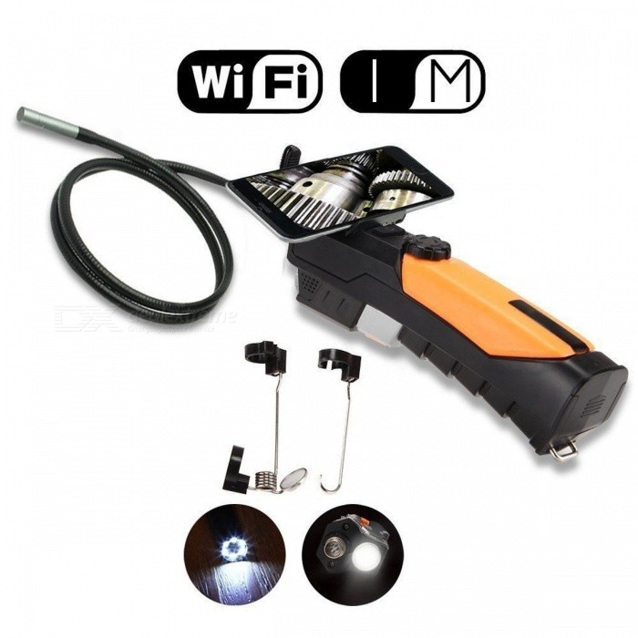 Teslong WF200 720P HD endoscópio 2MP 6LED 8.5mm WIFI endoscópio (1m)
