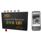 HD DVB-T2 Single-Antenna Car Digital Set-top Box / TV Receiver Set w/ Remote Control