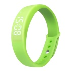 "W5 Multifunctional 1"" LED USB Smart Bracelet Watch w/ 3D Pedometer / Sleep Monitor - Green"