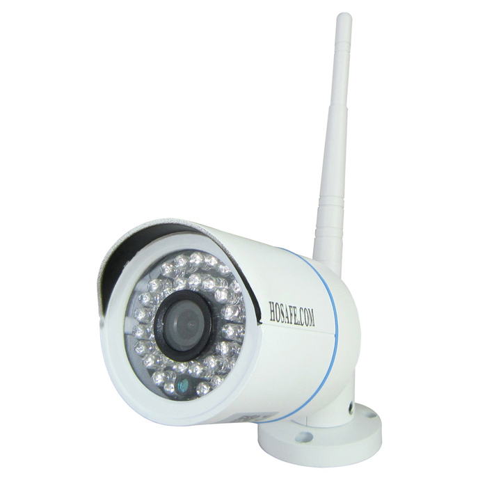HOSAFE Outdoor HD 1080P Wireless IP Camera Night Vision ONVIF - White