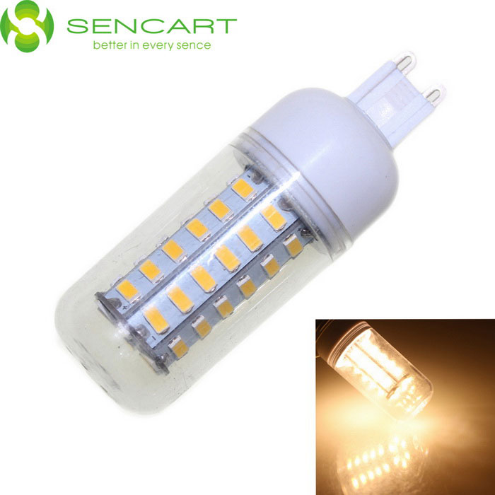 SENCART G9 10W 48-SMD LED bulbo decorativo branco morno do milho (110 ~ 240V)
