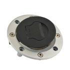 CARKING Motorcycle Aluminum Fuel Tank Cap for Suzuki - Black + Silver