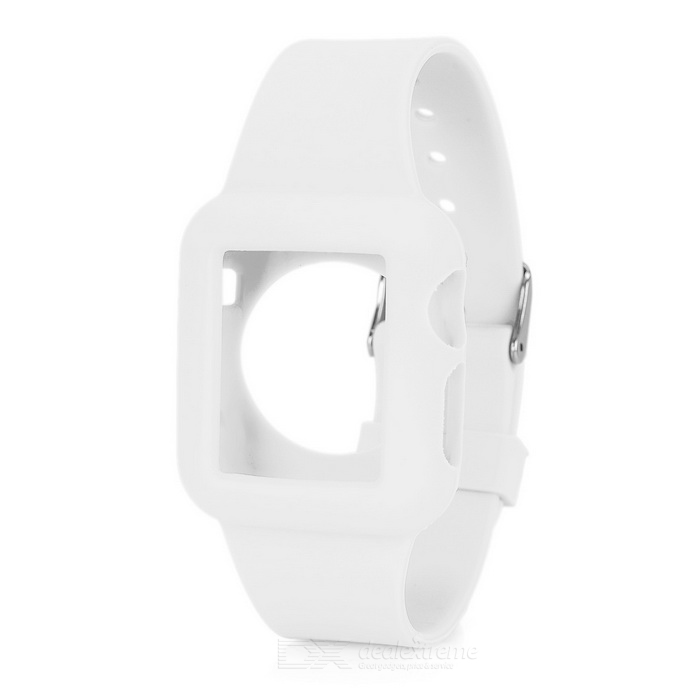 FineSource Silicone Wrist Watch Band voor Apple horloge 38mm - wit