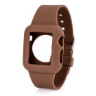 FineSource Silicone Wrist Watch Band for Apple Watch 38mm - Coffee