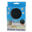 H-366T 1-to-2 Audio Bluetooth V4.0 Transmitter - Black