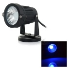 Waterproof 3W COB LED Lawn Lamp / Spotlight Blue Light 20lm 460nm - Black (12V)