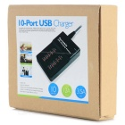 Station de charge rapide portable USB 2.0 10 ports - Noir (Plug UE)