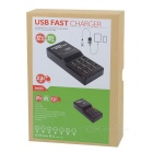 12-Port USB 2.0 Quick Charging Station - Black (US Plugs)