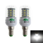Zweihnder E14 4W LED Corn Lamps White Light 6000K 350lm 24-SMD 5730 (AC 220~240V / 2 PCS)