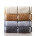 YDL-KS-1 Cotton Soft Water-Absorbing Anti-Bacterial Towel Suit - Beige + Brown + Light Grey (4 PCS)
