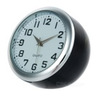 Mini Electronic Quartz Analog Car / Home Clock - Black + Silver (1 x LR626)