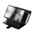 "6.8"" Screen Enlarging Magnifier Desktop Mount Holder for Mobile Phones - Black"